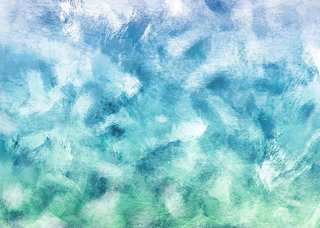 Tło niebieskie i turkusowe pociągnięcia pędzla