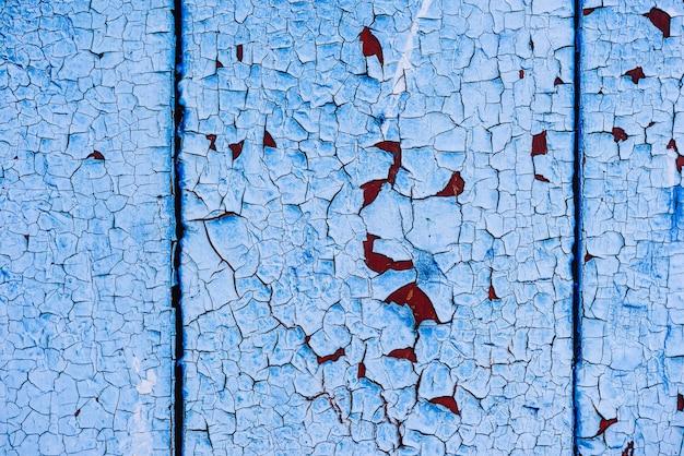 Tło niebieskie malowane powierzchni drewnianych. skopiuj miejsce