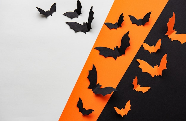 Tło nietoperzy halloween
