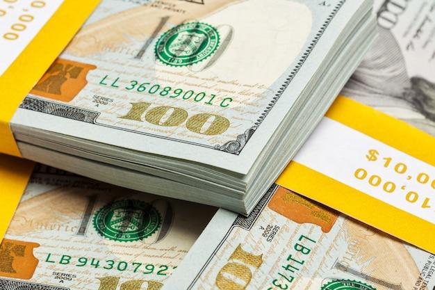 Tło nowych rachunków 100 dolarów amerykańskich 2013