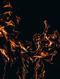 Tło ognia.