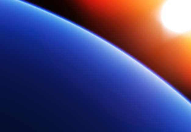 Tło orbity planety na dużej wysokości