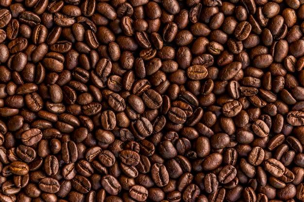 Tło palonych ziaren kawy