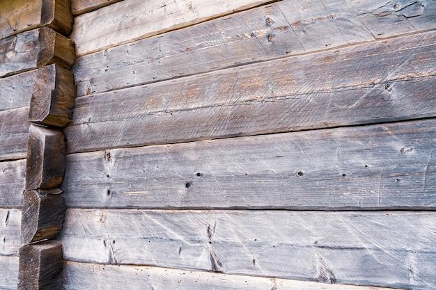 Tło pięknych desek z ciemnego drewna