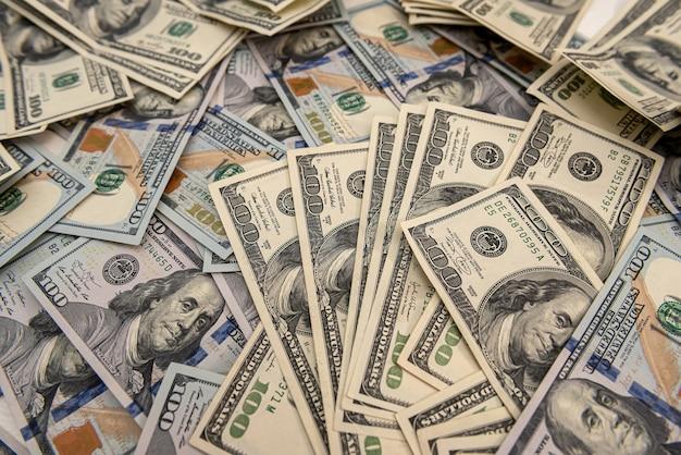 Tło pieniędzy, rachunki w dolarach amerykańskich