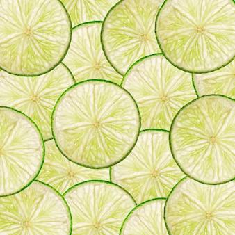 Tło plasterki limonki do projektowania
