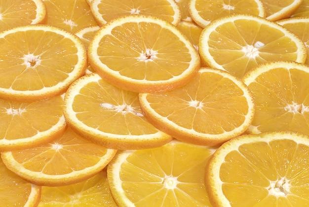 Tło plasterki pomarańczy