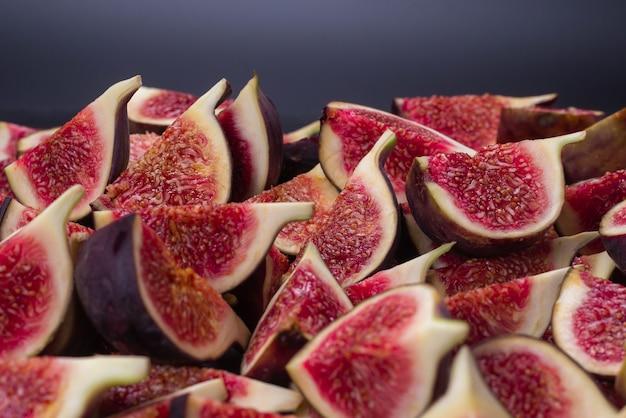 Tło plastry smaczne figi