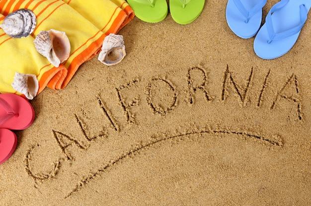 Tło plaża kalifornii