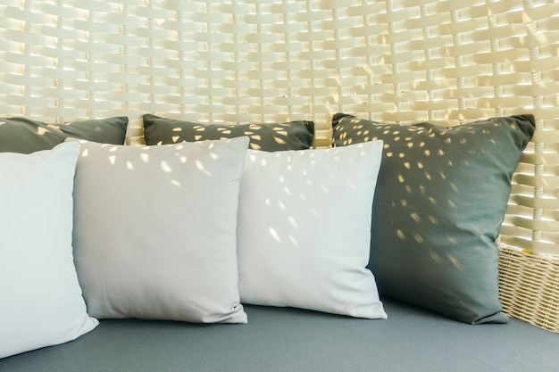 Tło poduszki współczesna elegancja mebli
