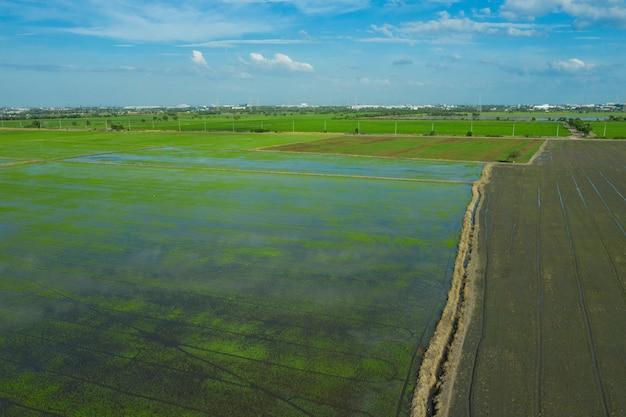 Tło pola, krajobraz widok z góry, natura