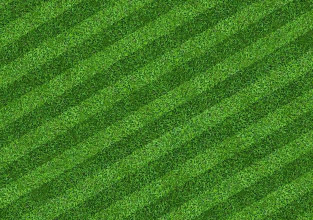 Tło pola zielonej trawy dla sportu piłki nożnej i piłki nożnej. zielony gazon tekstury tło. zbliżenie.