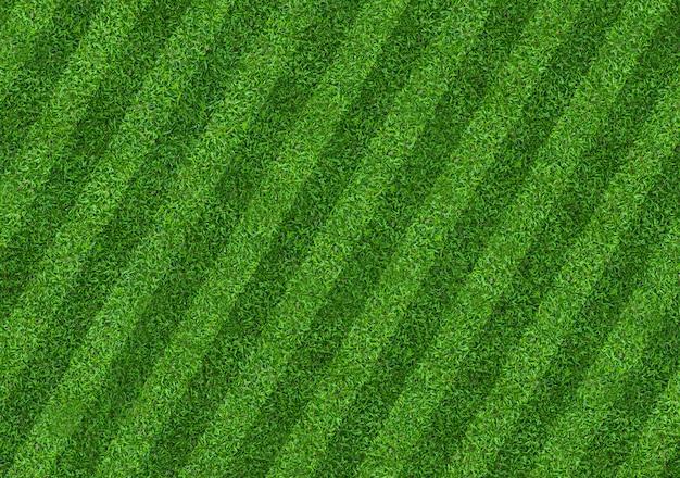 Tło pola zielonej trawy dla sportu piłki nożnej i piłki nożnej.