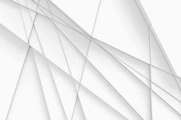 Tło powierzchni jest obliczane za pomocą prostych linii na różnych kształtach geometrycznych na różnych wysokościach i rzucających na siebie cienie. ilustracja 3d