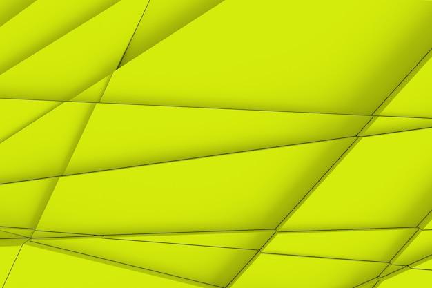 Tło powierzchni jest obliczane za pomocą prostych linii na różnych kształtach geometrycznych na różnych wysokościach