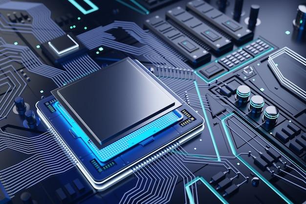 Tło procesora i chipa komputera