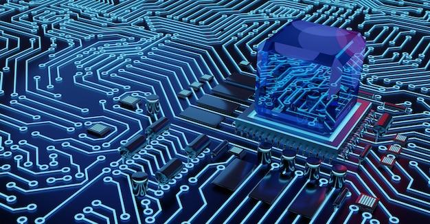 Tło procesora i chipa komputerowego