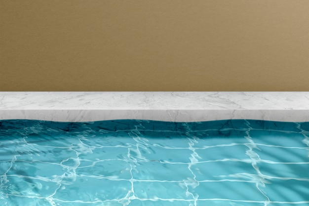 Tło produktu letniego, basen
