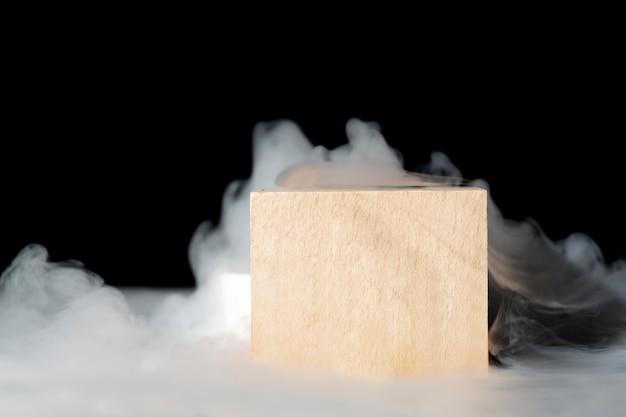 Tło produktu, realistyczny projekt kinowego dymu