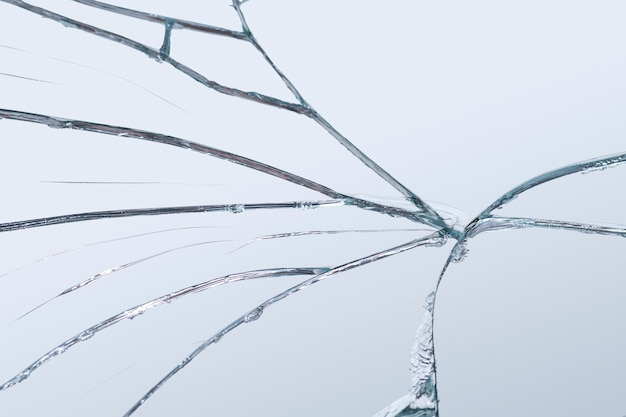 Tło realistycznego efektu pękniętego szkła