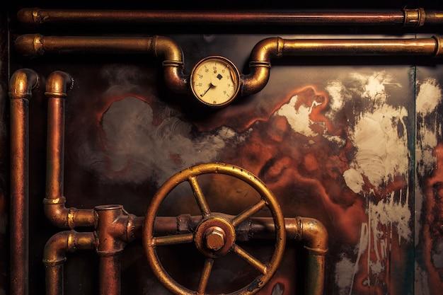 Tło rocznik steampunk