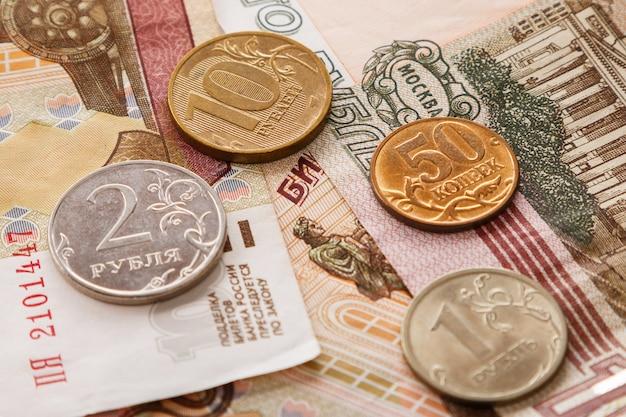 Tło rosyjskich rubli