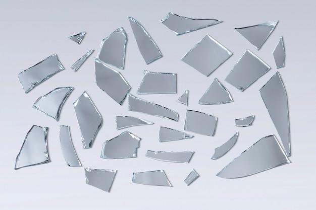 Tło rozbitego szkła z rozbitego lustra