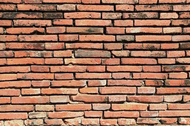 Tło ściana z cegieł czerwony