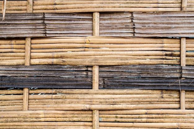 Tło ściany bambusa
