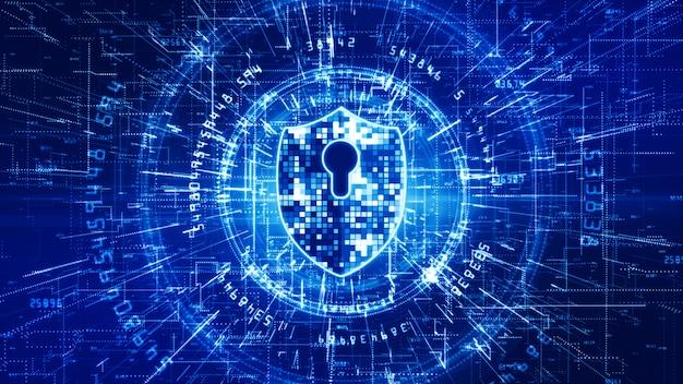 Tło sieci cyberbezpieczeństwa