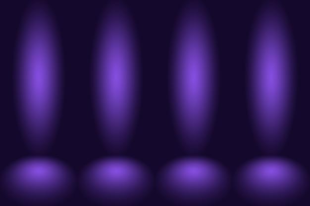 Tło studyjne koncepcja ciemny gradient fioletowy pokój studyjny tło dla produktu