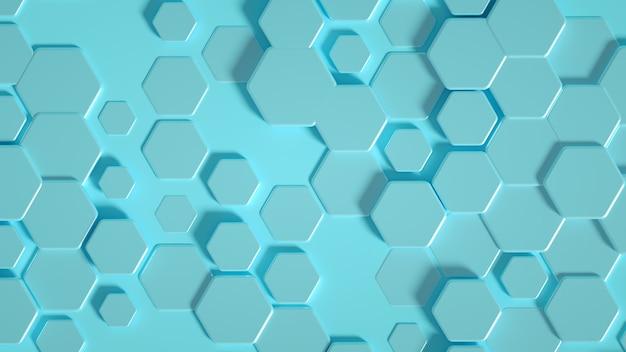 Tło sześciokąt geometrii. ilustracja, renderowanie 3d.
