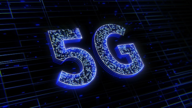 Tło technologii cyfrowej przyszłości 5g