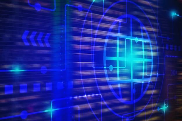 Tło technologii dla internetu przedmiotów technologii i dużych danych