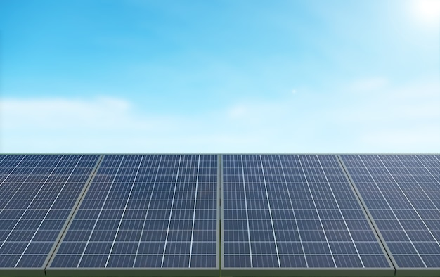 Tło technologii paneli słonecznych