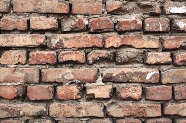Tło tekstura ściana z cegieł kolorowe. murarstwo.
