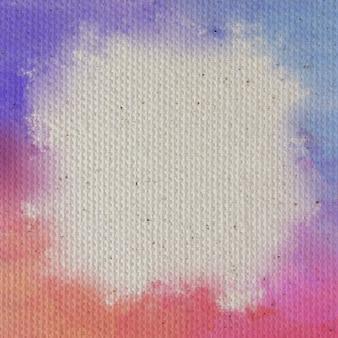 Tło tekstury płótna pokryte białym podkładem