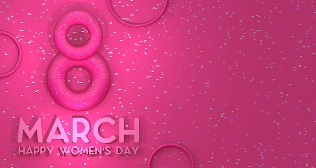 Tło transparent dzień kobiet. renderowanie 3d.