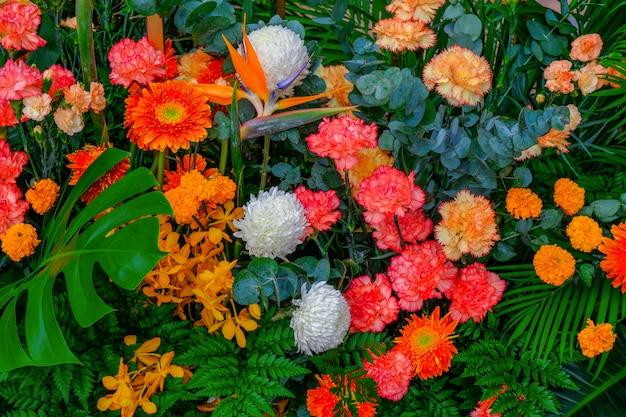 Tło układ kwiaty na ślub i wydarzenie