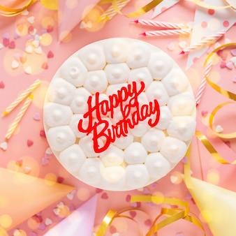Tło urodziny party z ciastem