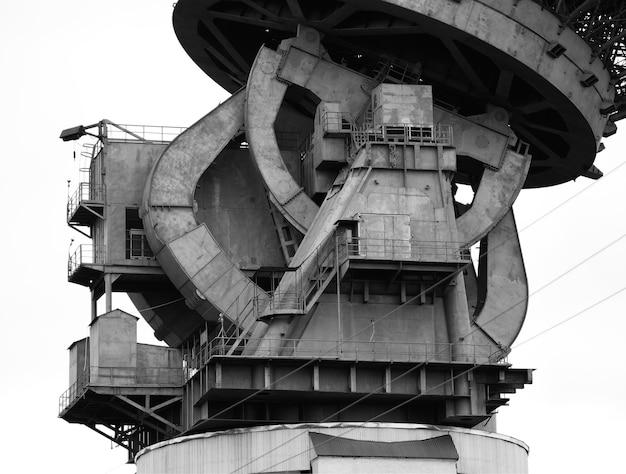 Tło vintage przemysłowego mechanizmu podnoszącego