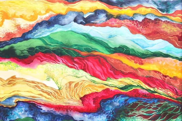 Tło w stylu boho akwarela plemiennych. rysunek farby pędzlem tekstury. artystyczny vintage afrykańskie tkaniny projekt stary ornament tradycyjny jasny kolor ilustracji.