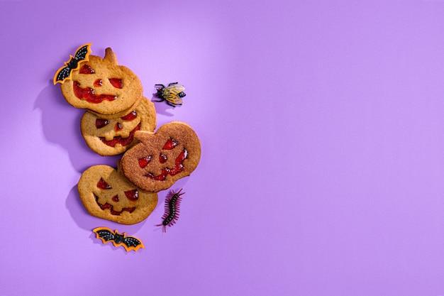 Tło w stylu wakacyjnego halloween