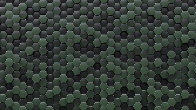 Tło w stylu zmilitaryzowanym. ciemnozielone komórki.