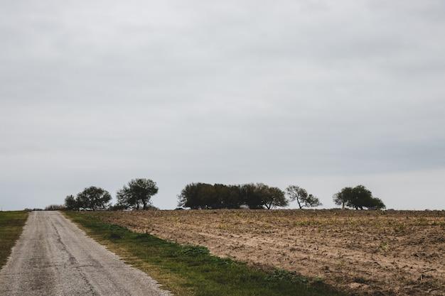 Tło wiejskiej drogi