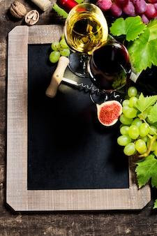 Tło wino i winogron