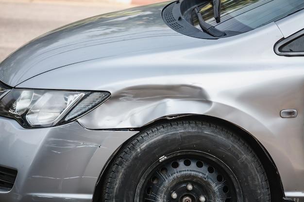 Tło wypadku samochodowego