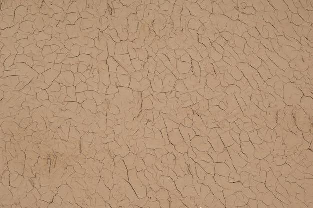 Tło wysuszonej i popękanej gliny