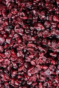 Tło wysuszony cranberries zbliżenie
