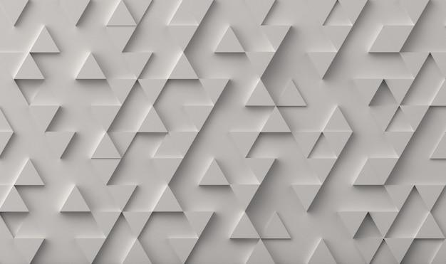 Tło wzór biały trójkąt. renderowanie 3d.
